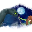 Hiccup & Toothless - How to train your dragon FANART 03 by liajung