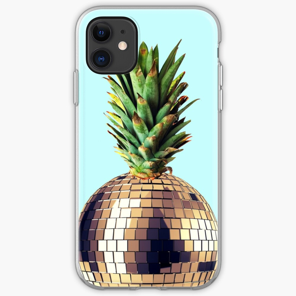 Ananas Party (pineapple) blue version iPhone Soft Case