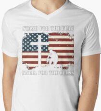 VETERAN - I DON'T KNEEL Men's V-Neck T-Shirt