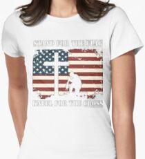 VETERAN - I DON'T KNEEL Women's Fitted T-Shirt