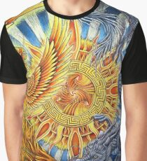 Chinese Phoenix and Dragon Mandala Graphic T-Shirt
