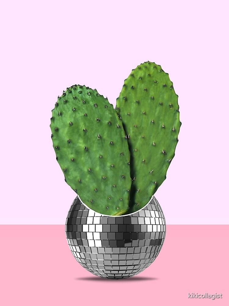 Cactus disco party by kikicollagist