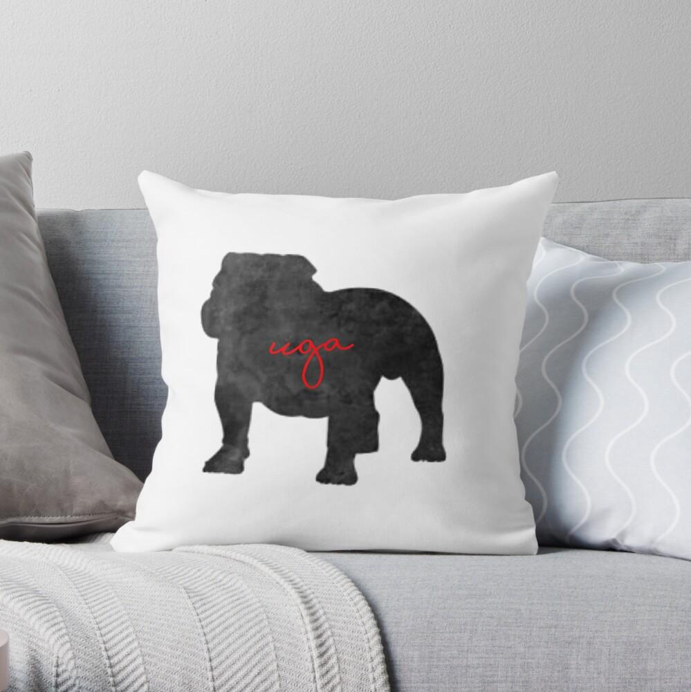 uga georgia bulldogs Throw Pillow