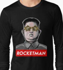 Rocket man Kim Jong-Un Donald Trump RocketMan T Shirt Long Sleeve T-Shirt