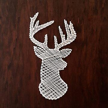 White Deer - Hirsch  by SteffiVioletta