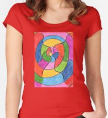 2406 - Unusual Spiral presented with Colours Women's Fitted Scoop T-Shirt