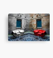 Twin Couches Canvas Print