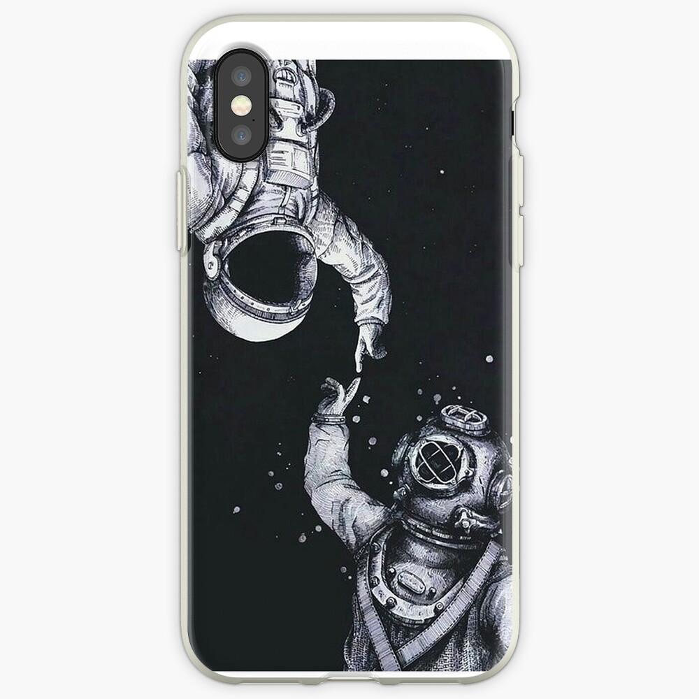 Astronaut und Taucher iPhone-Hüllen & Cover