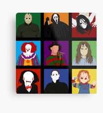 Halloween Impression Board Metal Print