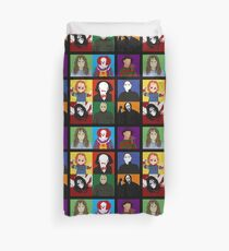 Halloween Impression Board Duvet Cover