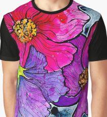 Vibrant Flowers Graphic T-Shirt