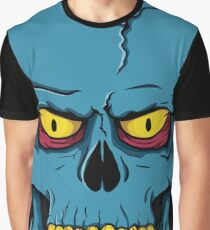 Blue Skull Graphic T-Shirt