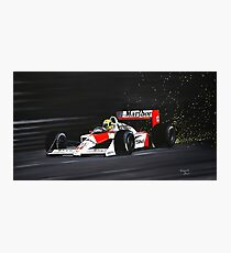 Ayrton Senna. Mclaren MP4/4 1988 Photographic Print