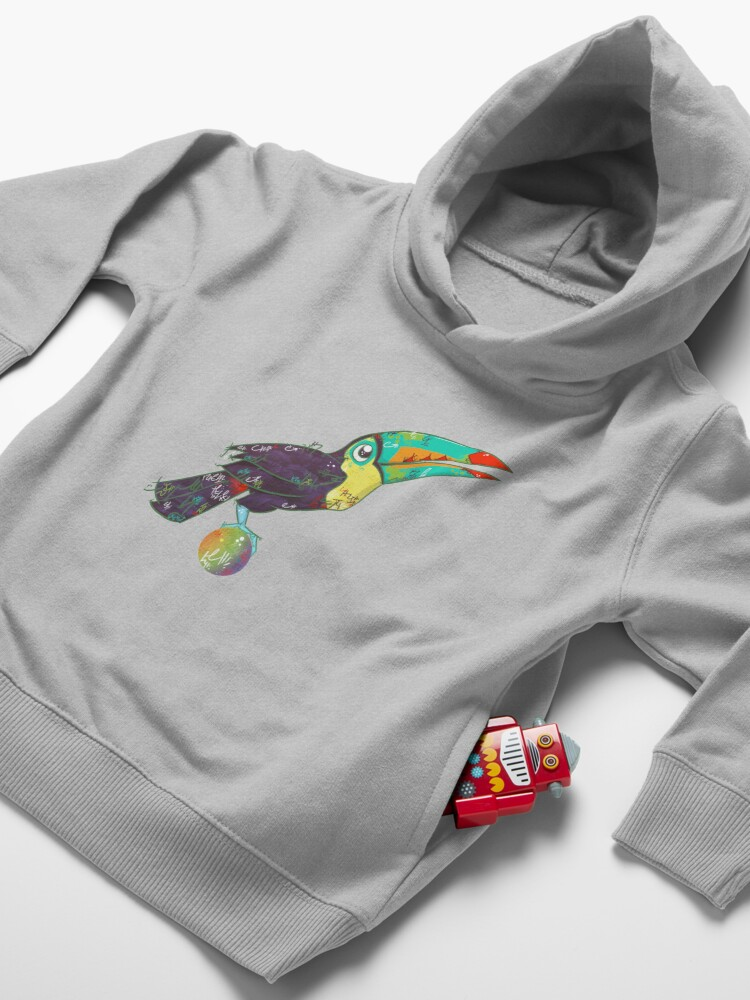 Alternate view of Toucan Can Do it! Toddler Pullover Hoodie