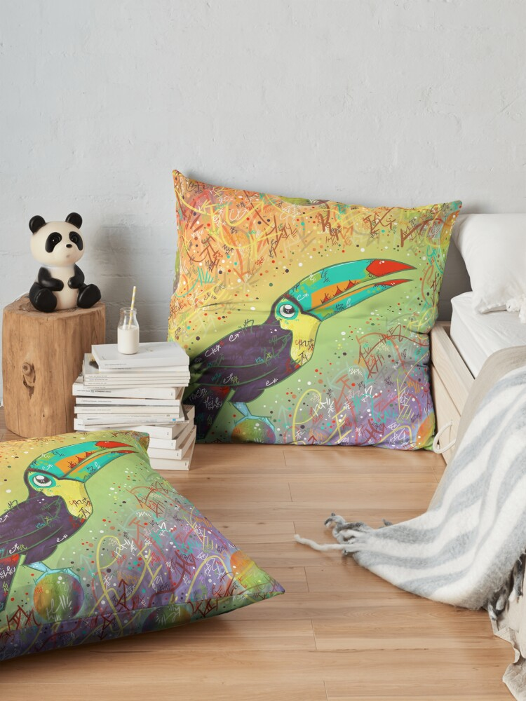 Alternate view of Toucan Can Do it! Floor Pillow
