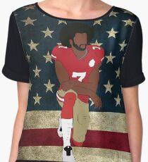 Colin Kaepernick American Flag Chiffon Top