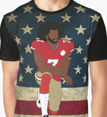 Colin Kaepernick American Flag Graphic T-Shirt