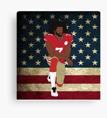 Colin Kaepernick American Flag Canvas Print