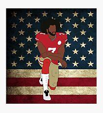 Colin Kaepernick Amerikanische Flagge Fotodruck