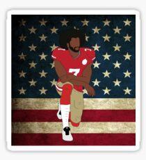 Colin Kaepernick American Flag Sticker