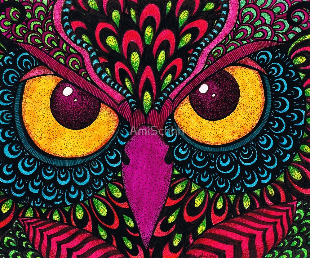 Color Owl by AmiSchhh