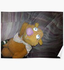 Battered Fozzie Bear. Poster