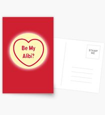 Be My Alibi? Postcards