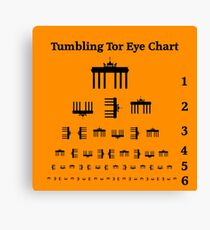 Tumbling Tor Eye Chart Canvas Print