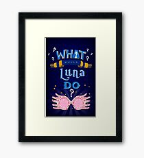 What would smart AND witty person do? Framed Print