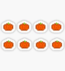 8bit pumpkins   Sticker