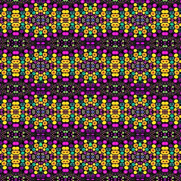 Yellow And Purple Mosaic by Trebolazul
