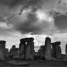 Stormy Stonehenge by Tibby Steedly