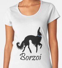 Black Borzoi Boy Women's Premium T-Shirt
