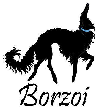 Black Borzoi Boy by tcarey