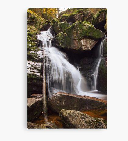Black Stream Waterfall Canvas Print