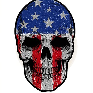 american skull face  by mspaulista