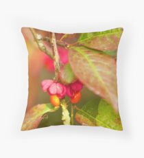Berries of the Spindle tree Throw Pillow
