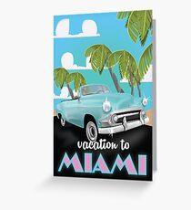 Vintage Miami travel poster Greeting Card