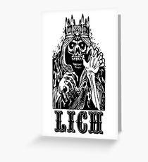 AD&D: Lich Greeting Card