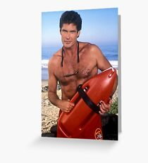 The Hoff - Baywatch Greeting Card