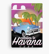 Havana, Cuba Vintage auto vacation Poster Canvas Print