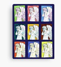 Weeping Angels Set Canvas Print