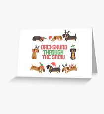 Dachshund Greeting Card