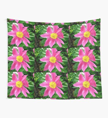 Pink flower Wall Tapestry
