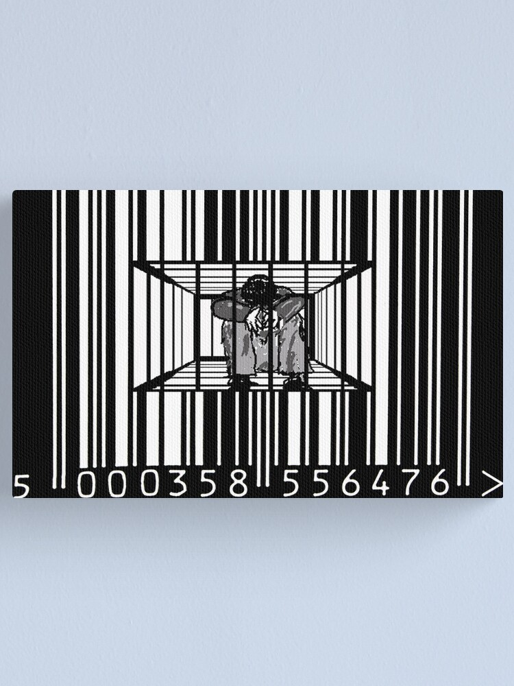 Alternate view of Encoded Canvas Print