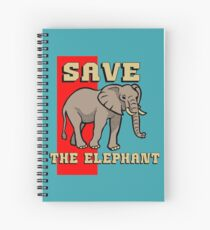 SAVE THE ELEPHANT-3 Spiral Notebook