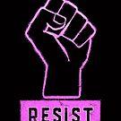Halte die Marching Pink Power Resist Faust aufrecht von electrovista