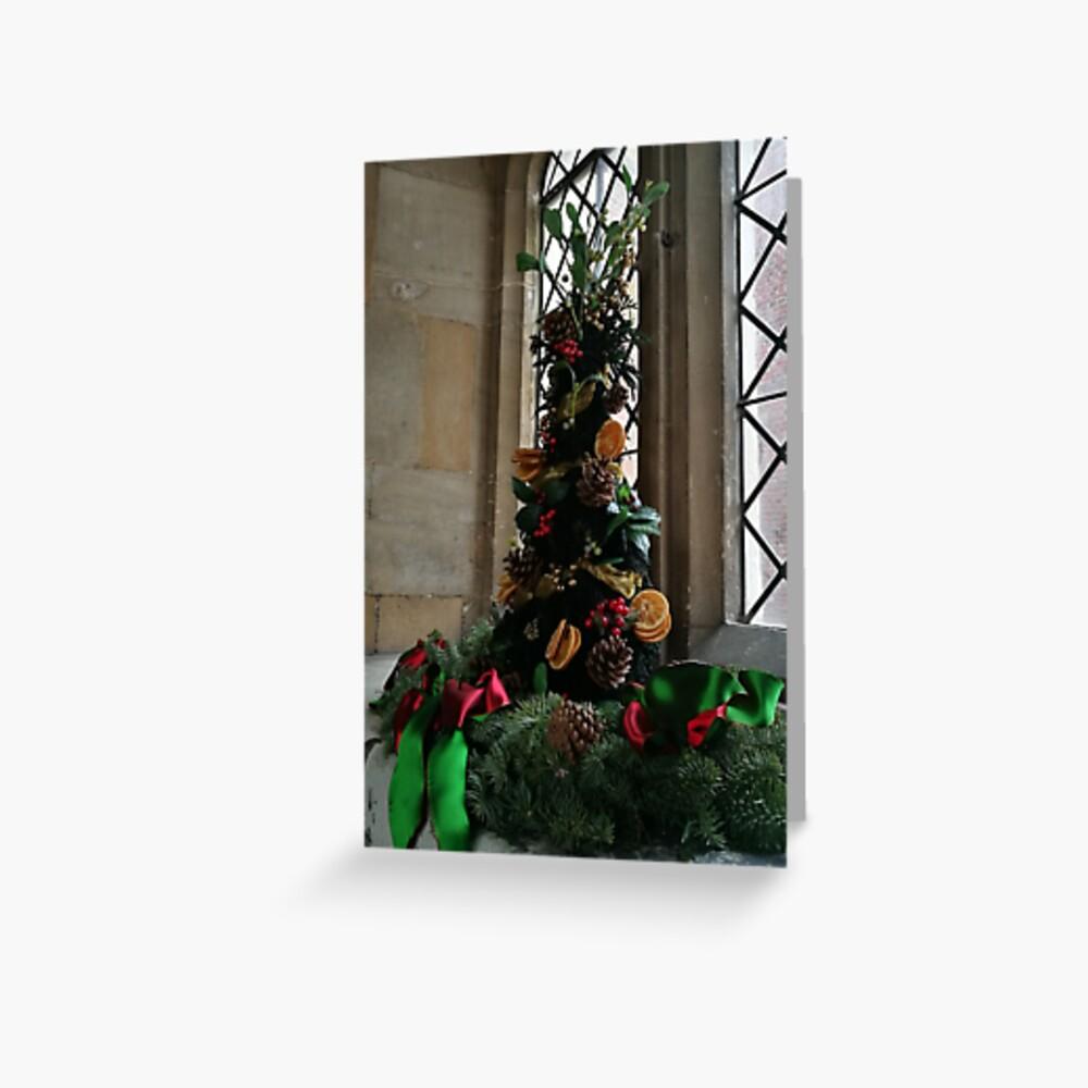 Christmas tree, Christmas card, Medieval Christmas Greeting Card