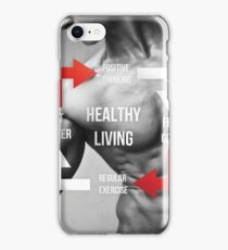 Healthy Living - Fitness Inspirational Infographic iPhone Case/Skin