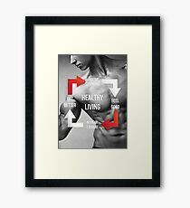 Healthy Living - Fitness Inspirational Infographic Framed Print